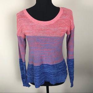 Roxy Blue Pink Ombré Sweater S